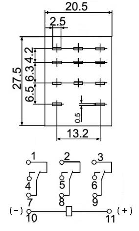 Клеммная колодка PYF08A